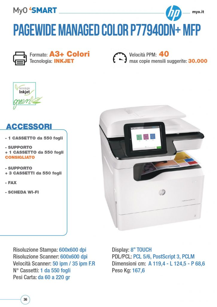 HP PAGEWIDE MANAGED COLOR P77940DN MFC
