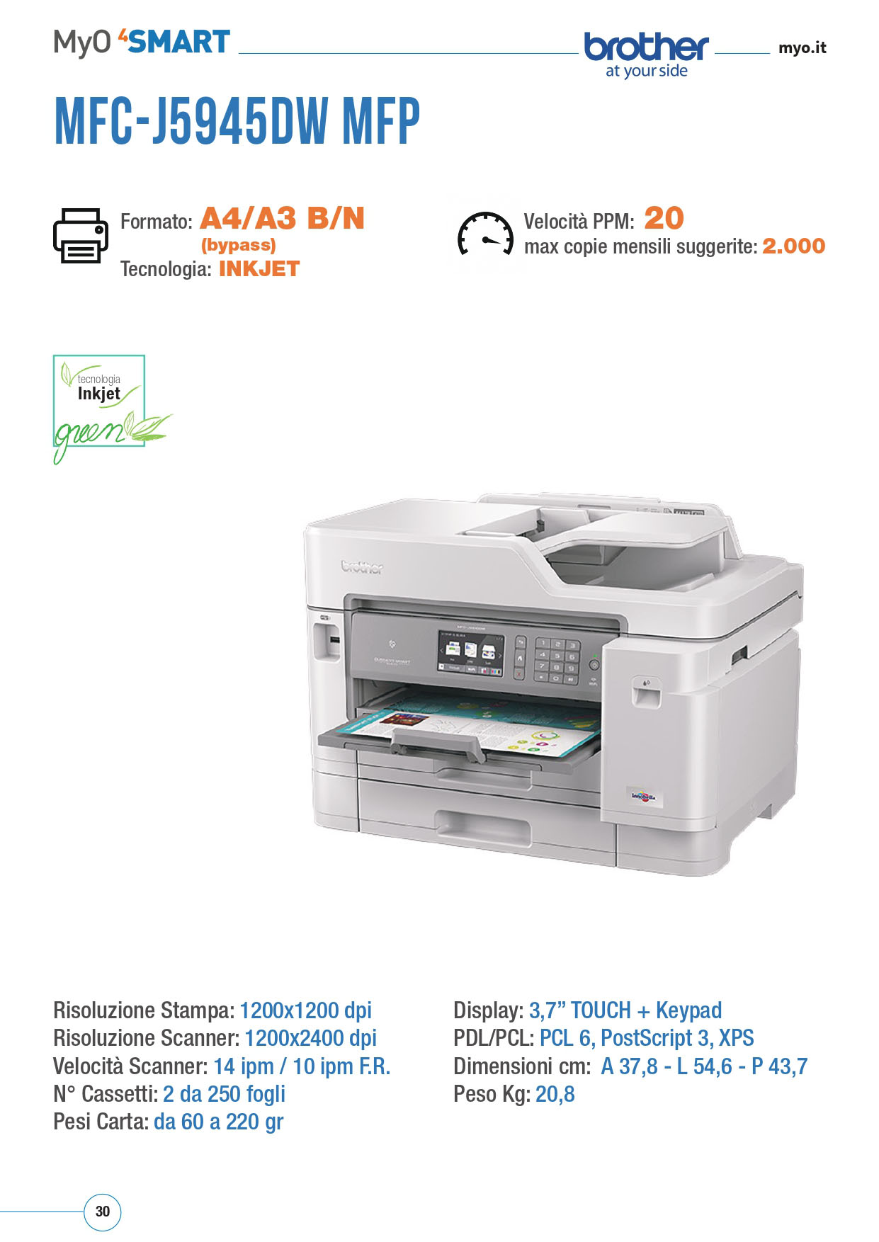 MFC BROTHER J5945DW MFP