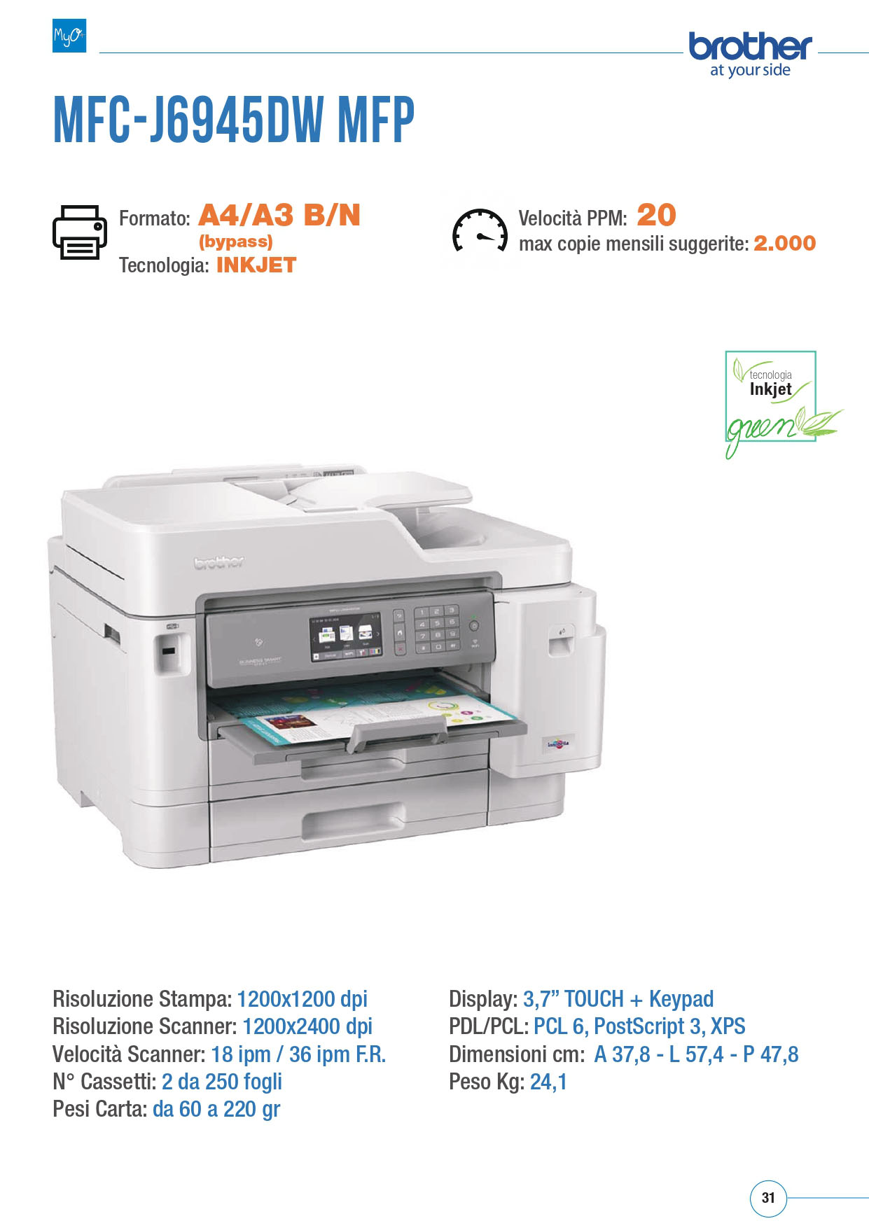 MFC BROTHER J6945DW MFP